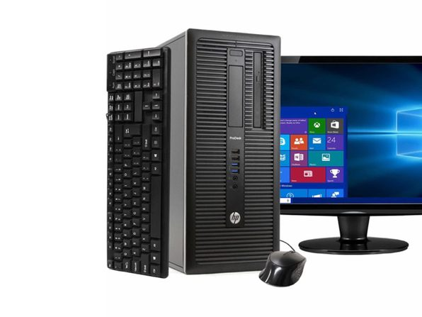 "HP ProDesk 600G1塔式PC,3.2GHz Intel i5四核Gen 4、16GB RAM,512GB SSD,Windows 10 Professional 64位,22"" Screen (Renewed)"