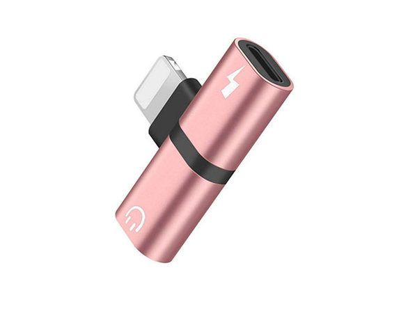 iPhone Audio & Charger Adapter - Rose Red - Product Image