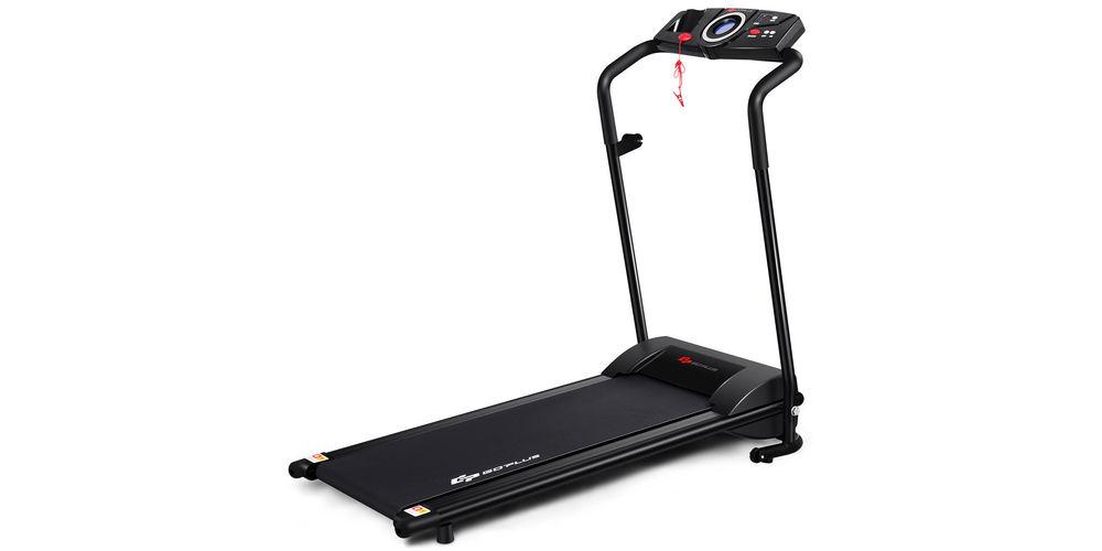 A black treadmill