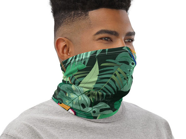 Reusable Trendy Face Cover / Neck Gaiter (Tropical)