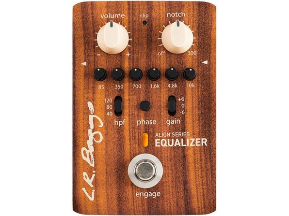 LR Baggs Align Equalizer Acoustic-Electric Pedal 6-Band EQ Highpass Filter Notch (Used, No Retail Box)