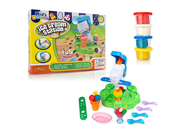Multi-Piece Dough Playset for Kids