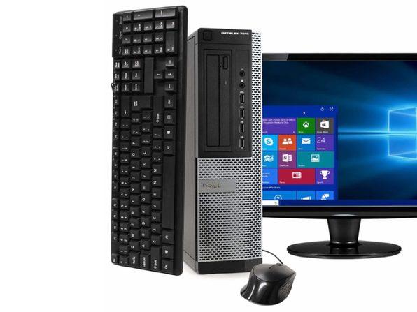 """Dell Optiplex 7010 Desktop PC, 3.2GHz Intel i5 Quad Core Gen 3, 8GB RAM, 120GB SSD, Windows 10 Professional 64 bit, 19"""" Screen (Renewed)"""