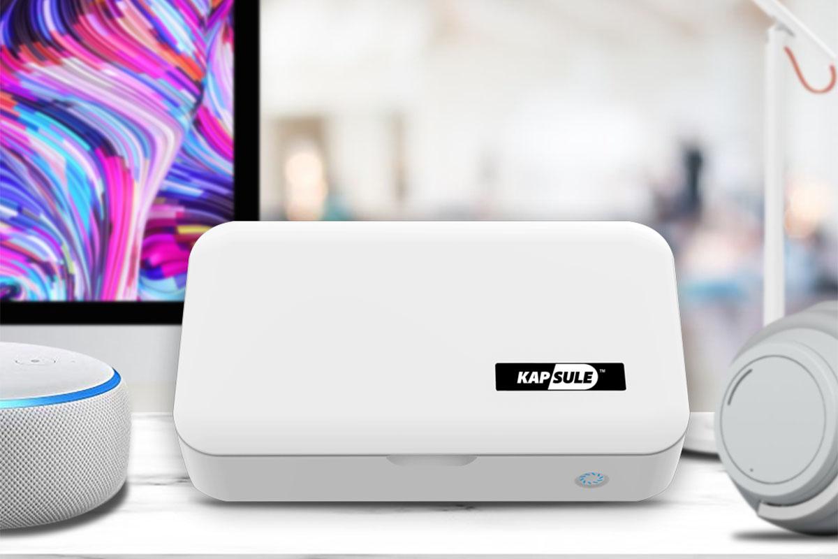 KAPSULEUV-C Phone Sanitizing Box, on sale for $82.99 (36% off)