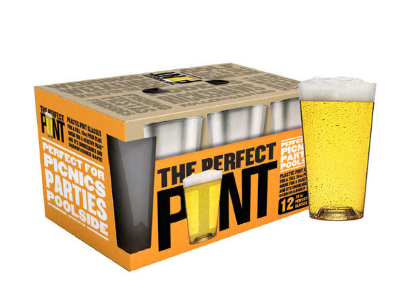 The Perfect Pint Glass: 12-Pack