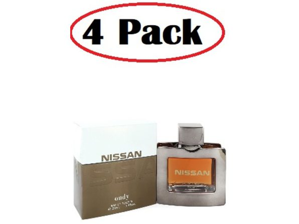 4 Pack of Nissan Oudy by Nissan Eau De Toilette Spray 3.4 oz - Product Image