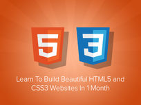 Learn to Build Beautiful HTML5 & CSS3 Websites in 1 Month - Product Image