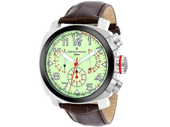 Christian Van Sant Men's Grand Python Luminous Dial Watch - CV3AU6