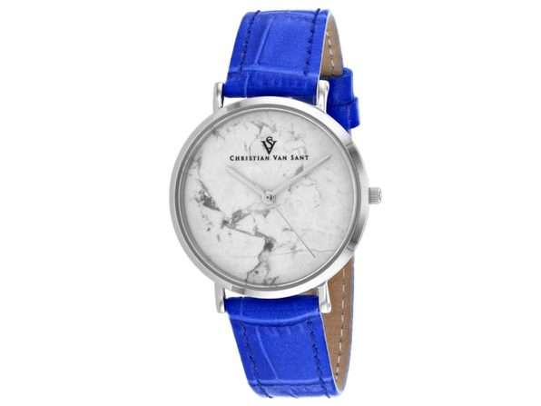Christian Van Sant Women's Lotus White Dial Watch - CV0420 - Product Image