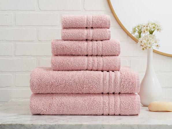 Turkish Cotton 6-Piece Ensemble Towel Set (Rose)