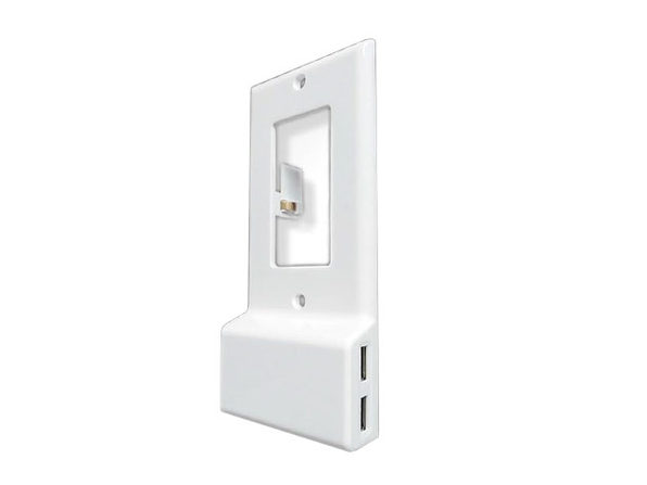 Invisible Dual USB Wall Charger Plate (Square) - Product Image