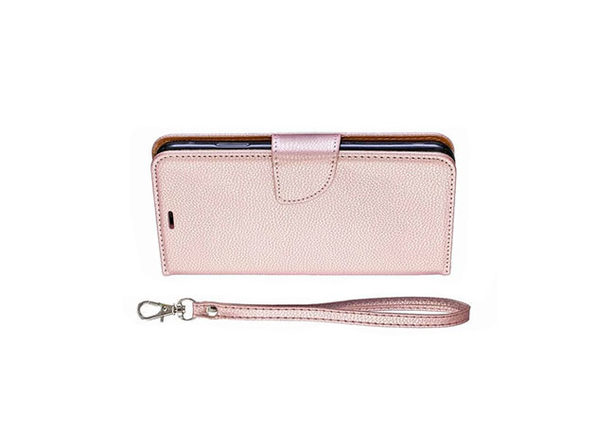 iPM PU Leather Wallet Case for iPhone 11 with Kickstand (Pink)