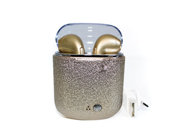 True Wireless Bluetooth Earbuds + Glitter Case