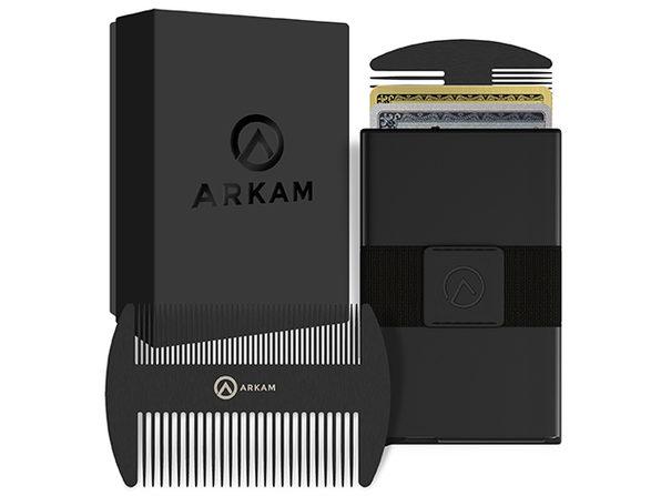 Arkam Legend Beard Comb Wallet (Matte Black)