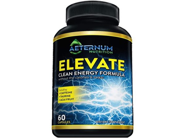 Aeternum Nutrition Elevate Natural Clean Energy - Supports Endurance, Energy and Focus - High Caffeine Pills with Taurine, Natural and NON-GMO, 60 Capsules Dietary Supplement