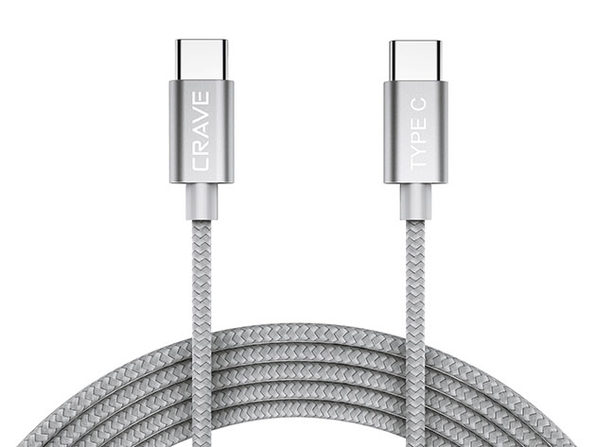 Crave USB-C to USB-C Cable (Silver)