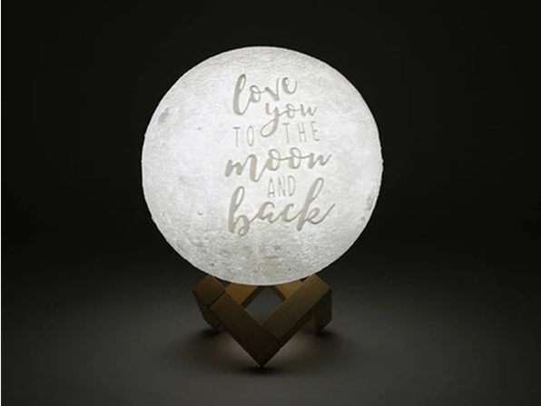 """Love You To The Moon And Back"" Original Moon Lamp (6"")"