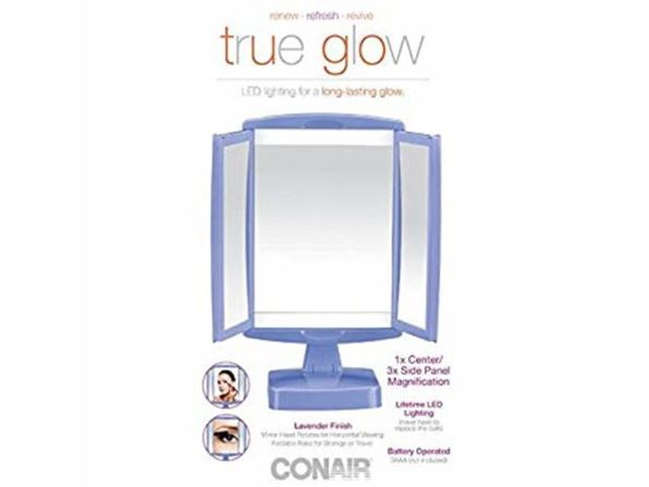 Conair 23683 True Glow LED Makeup Mirror; Lavender - Product Image