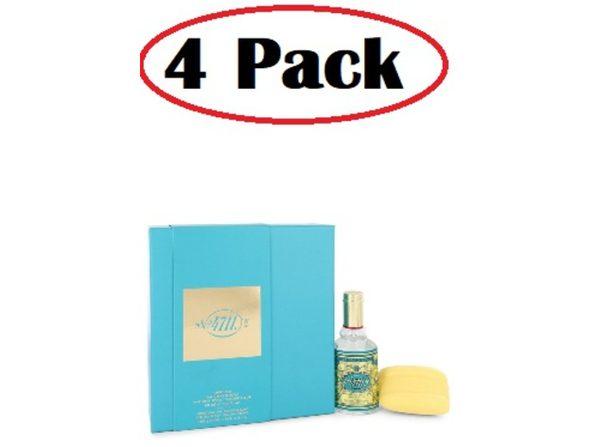4 Pack of 4711 by 4711 Gift Set -- 3 oz Eau De Cologne Spray + 3.5 oz Soap - Product Image