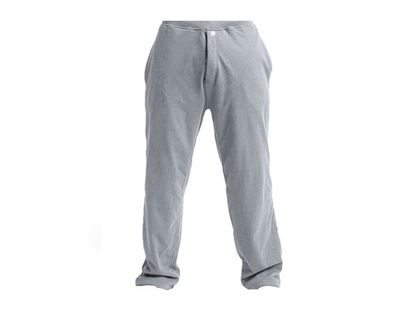 DudeRobe Pants: Luxury Towel-Lined Lounging Sweatpants (Gray, L/XL)