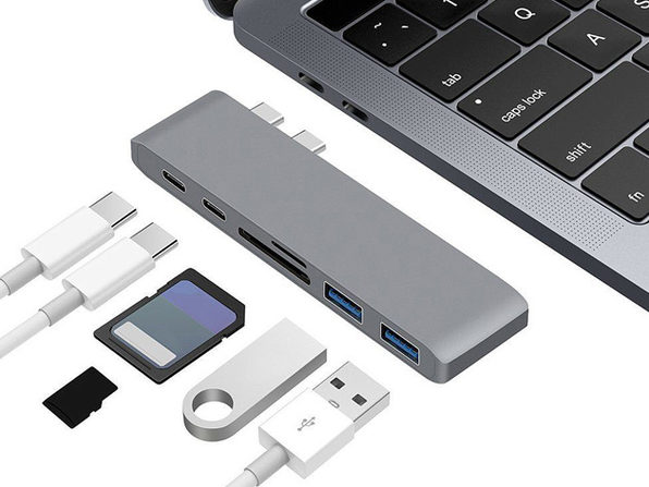 6-in-1 USB-C Hub for MacBook Pro