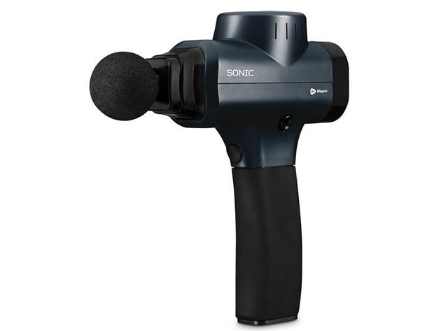 Sonic Handheld Percussion Massage Gun (Black), on sale for $77.59 when you use coupon code BFSAVE20 at checkout