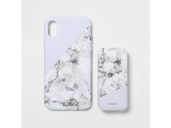 Heyday Apple iPhone X/XS Lightweight Case with 4000 mAh Capacity Power Bank, Marble (New Open Box)