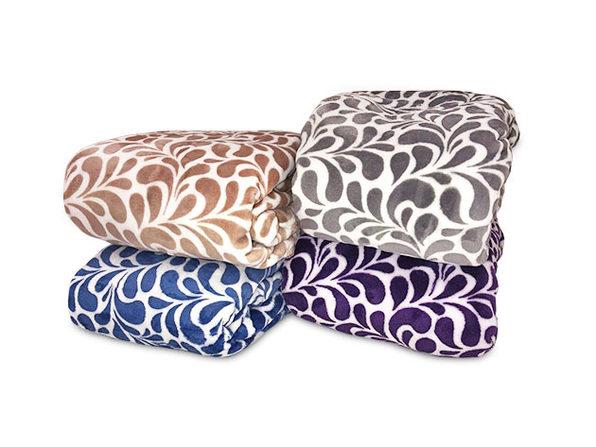 Paisley Plush Throw Blanket