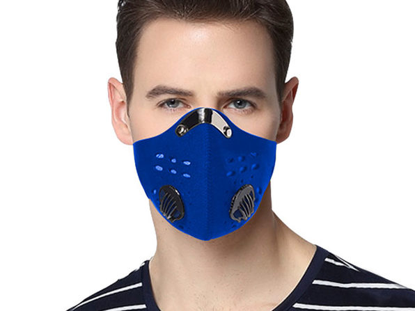 Reusable Dust-Proof Mask with 5 Filters (2 Pack)