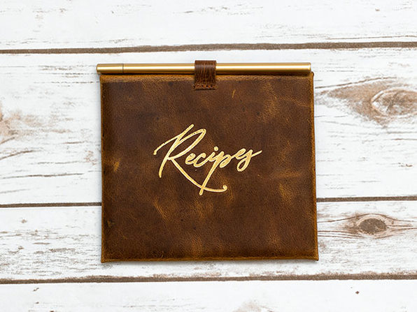 Leather Envelope & Cards (Recipes)