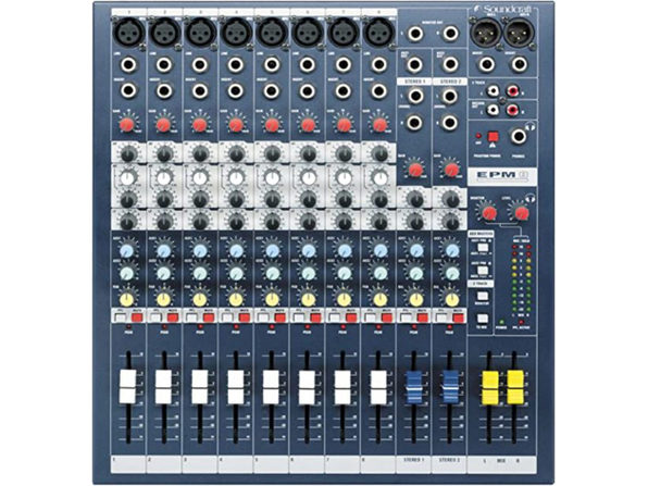 Soundcraft EPM8 High Performance Multi Format Audio Mixer, 8+2 Channels (Used, Damaged Retail Box)