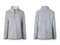 Half Zip Pullover- Grey Medium - Product Image