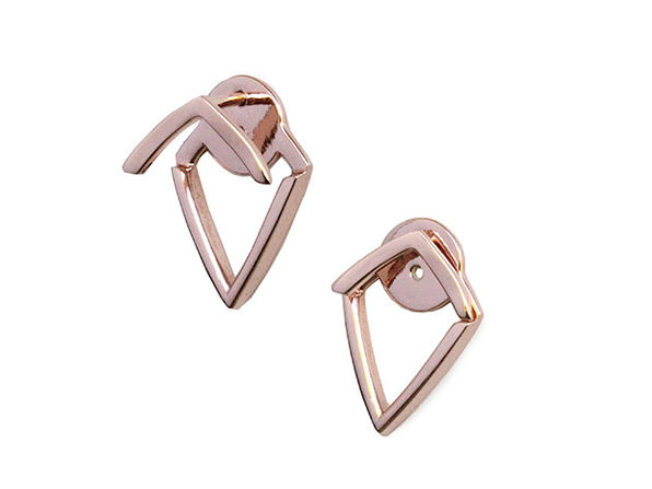 Sonia Hou Trill Earrings in 18K Rose Gold Vermeil