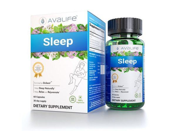 Avalife Sleep - Natural Sleep Aid Supplements for Men & Women - Gluten Free, Vegan & Non-GMO - 60 Capsules