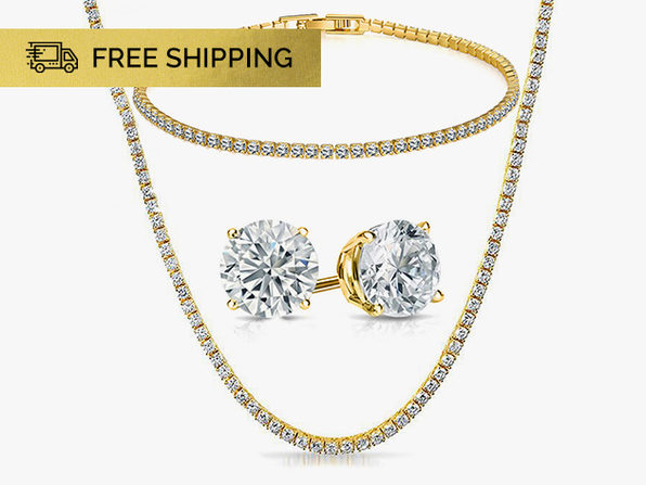 Tennis Jewelry with Swarovski Crystals 3-Piece Set