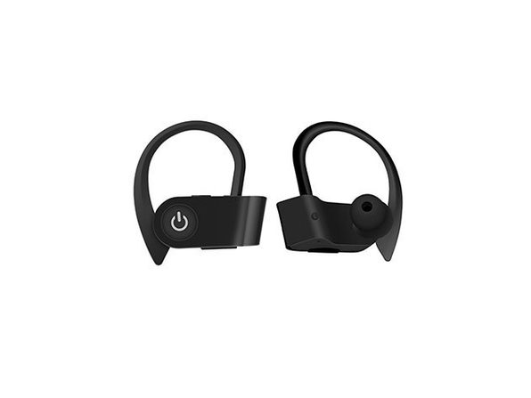 Bluetooth 5.0 Sweatproof HD Sport Earphones - Black - Product Image