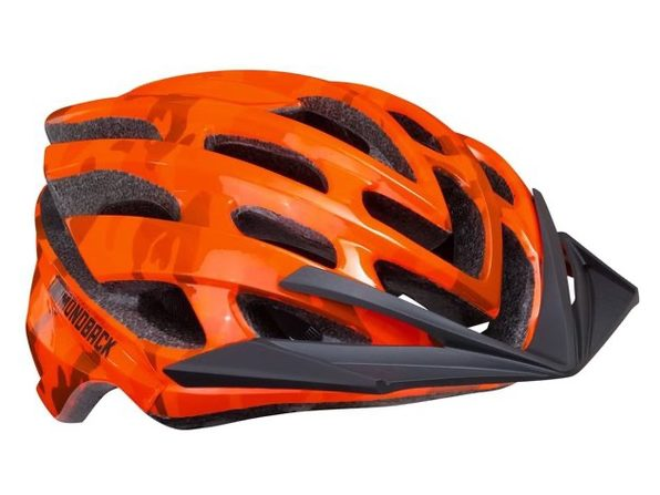 Diamondback Overdrive Bike Helmet Mountain , Orange Camo, Large (New)