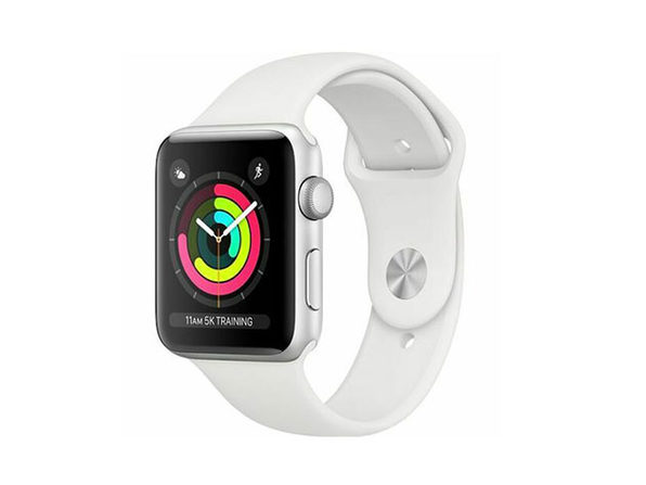Series 3 Apple Watch With GPS (42mm/White Sports Band)
