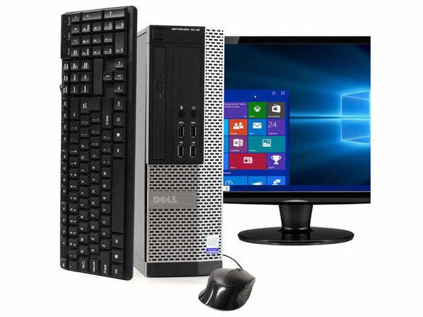 """Dell OptiPlex 7020 Desktop PC, 3.2GHz Intel i5 Quad Core Gen 4, 16GB RAM, 500GB SATA HD, Windows 10 Professional 64 bit, 22"""" Widescreen Screen (Renewed)"""