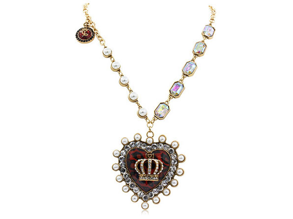 "Royal Heart Sweater Necklace By ""The Countess"" Luann de Lesseps"