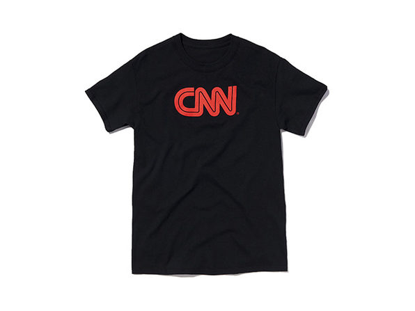 CNN Basic Tee  Black  M