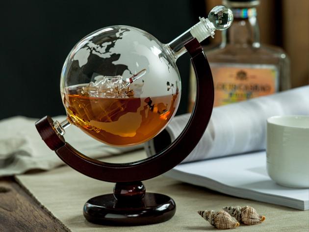 Eravino Whiskey Globe Decanter Stacksocial