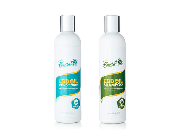 Sunset CBD Organic Shampoo and Conditioner - Product Image
