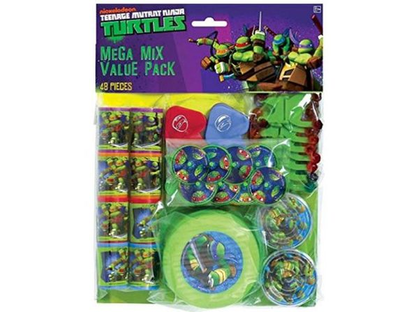 Party Favors - Ninja Turtles - Mega Mix Value Pack - 48pc Set
