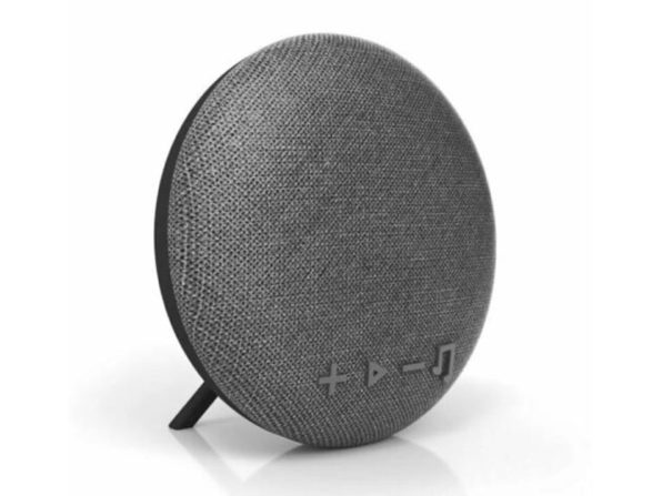 Tzumi Deco Series Wireless Portable Bluetooth Speaker Stereo Sound, Range Up to 33 Feet, Gray Fabric (New Open Box)