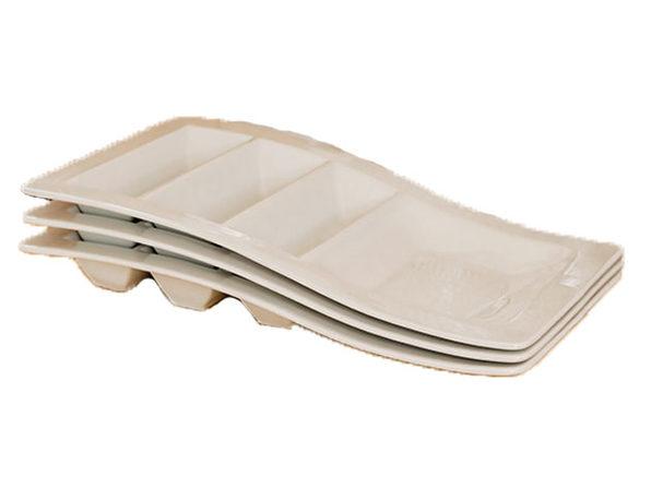 Tuxton Home Kona Porcelain Taco Plate Set (3-Piece)