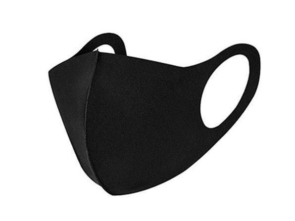 Polyester Face Masks: 10-Pack/Black