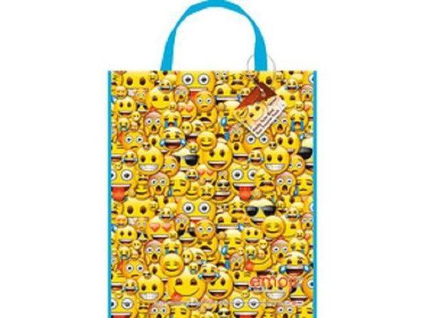 Emoji Party Plastic Tote Bag