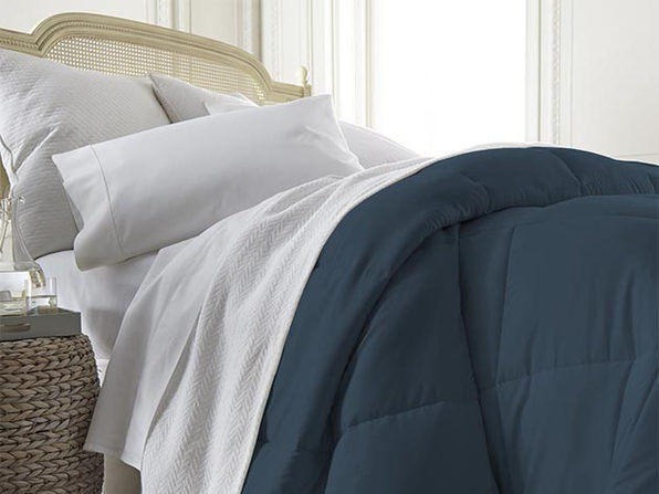 iEnjoy Home Down Alternative Navy Comforter