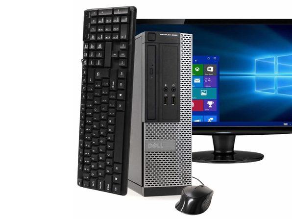 """Dell OptiPlex 3020 Small Form Factor PC, 3.2GHz Intel i5 Quad Core Gen 4, 8GB RAM, 120GB SSD, Windows 10 Home 64 bit, 22"""" Screen (Renewed)"""